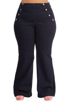 Sailorette the Seas Jeans in Dark Wash - Plus Size, @ModCloth