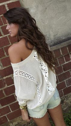 Vintage Oversized Sweater. So cute! I have a sweater obsession!