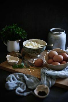 Pratos e Travessas: Panquecas de atum, requeijão e salsa # Tuna, cottage cheese and parsley pancakes   Food, photography and stories