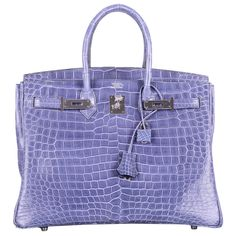 MAGICAL & ONLY ON JF HERMES BIRKIN BAG 35cm BLUE BRIGHTON PORO PHW | From a collection of rare vintage handbags and purses at http://www.1stdibs.com/fashion/accessories/handbags-purses/