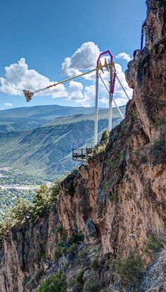 Canyon Swing at Glenwood Caverns Adventure Park in Glenwood Springs CO---An amusement park on top of a mountain...coolest thing ever lol.