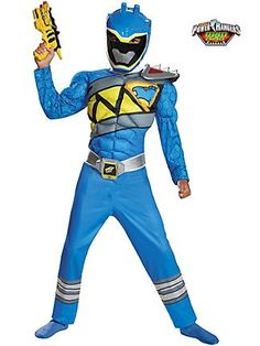 Power Rangers - Blue Ranger Dino Charge Classic Muscle Boy's Costume