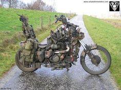 Which Survival Vehicles Should You Own? Vintage Motorcycles, Custom Motorcycles, Custom Bikes, Cars And Motorcycles, Motorcycle Camping, Motorcycle Outfit, Bobber Motorcycle, Harley Davidson, Survival