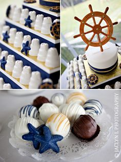 nautical theme wedding sweets