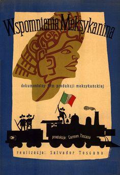1958 Andrzej Heidrich - Memorias de un Mexicano Polish Posters, Film Posters, Film Movie, Movies, Classic Films, Salvador, Cover Design, Cuba, Album Covers