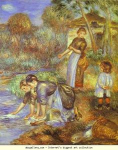 Pierre-Auguste Renoir. The Washer-Women. 1889. Oil on canvas.