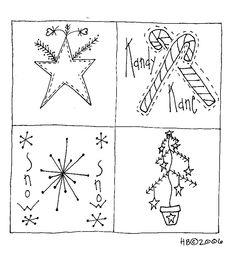 Primitive Redwork Patterns | Machine Embroidery patterns for primitive inspirational stitchery