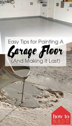 Easy Tips for Painting A Garage Floor (And Making It Last Use these garage floor painting tips to make your garage look incredible! Painting your garage floor is a must-try DIY! Read on for my tried and true garage floor painting tricks. Basement Flooring, Diy Flooring, Basement Floor Paint, Best Garage Floor Paint, Plywood Floors, Basement Remodeling, Bathroom Remodeling, Laminate Flooring, Garage Beton
