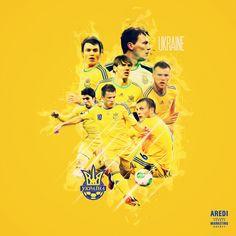 Ukraine team football, soccer, uefa euro2016, poster, illustration, social media design, sports branding, digital