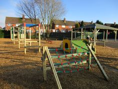 Rustic looking Trim Trail playground for Huntingtree Primary School