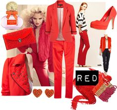 """""""I LOVE RED!"""" by belleepoquemodas on Polyvore"""