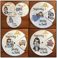 Nativity Craft Sequencing & Retelling the Story Reading Activities: Nativity storytelling wheel craft. Fun way to practice the sequencing & retelli Christian Christmas Crafts, Christmas Bible, Christian Crafts, Christmas Nativity, Christmas Crafts For Kids, A Christmas Story, Church Christmas Craft, Toddler Christmas, Crochet Christmas