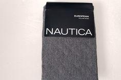 Nautica Aimsbury European Pillow Sham Gray Quilted  NEW  #Nautica #Nautical