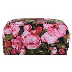 Floral Clutch From Dolce Gabbana: Pink Floral Clutch With Brand Logo... ($240) ❤ liked on Polyvore featuring bags, handbags, clutches, rosa, zip top purse, floral purse, zip top handbags, flower print purse and pink clutches
