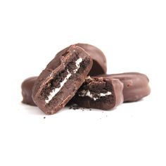Sweet Pete's dips Kinnikinnick brand sandwich cookies in our creamy, all natural, dark chocolate for a rich, delicious treat.