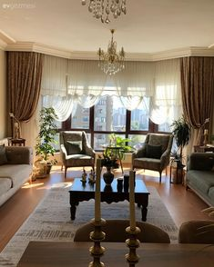 Luxury Living, Home Living Room, Kitchen Gadgets, Curtains, Interior Design, Bedroom, House, Home Decor, Style