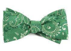 CUSTOM PAISLEY BOW TIES - KELLY GREEN   Ties, Bow Ties, and Pocket Squares   The Tie Bar