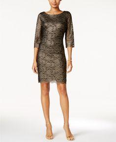 Ivanka Trump Metallic Lace Dress - Dresses - Women - Macy's