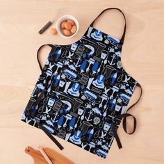 Gone Fishing, Black Tie, Print Design, Apron, Women's Fashion, Printed, Awesome, Pattern, Stuff To Buy