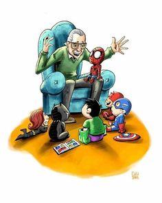 Sooo cuuttteeee yaa We miss you Stan Lee sir😢 Marvel Comics, Marvel Jokes, Marvel Funny, Disney Marvel, Marvel Heroes, Marvel Avengers, Baby Marvel, Baby Avengers, Spiderman Marvel