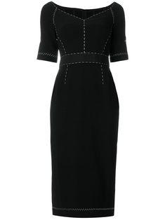 Dolce & Gabbana line stitch detailed dress