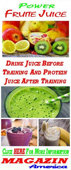 Drink Juice Before Training And Protein Juice After Training