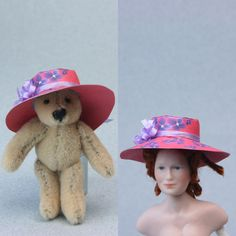 Printable Miniature Hats for Dollhouse & Fashion Dolls: Make Printable or Fabric Brimmed Hats for Miniature and Fashion Dolls
