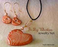DIY Valentine's Jewelry Set | Try It - Like It :: craft, eat, read, buy, win, link