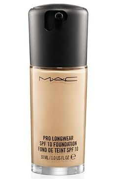 MAC pro long wear foundation. Stays put for up to 15 hours. It is a full coverage, matte foundation that glides on so smoothly on the face. Dust with MAC's mineralized skin finish natural and you're done.  LOVE this foundation when I need my makeup to last for than the norm. For an airbrushed finished, use a flat top Kabuki brush. Sigma has some MAC comparable brushes for a fraction of the cost.