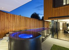 Clever pool access to minimise pool fencing | C.O.S. Design
