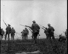 Bravely entering No Man's Land. From our WW1 archive, which can be explored here: http://www.britishpathe.com/workspaces/jhoyle/GfYgqoxq