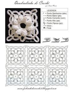 square flower of popcorn crochet http://translate.google.com.ph/translate?sl=auto=en=n=_t=en=UTF-8=http%3A%2F%2Ffalandodecrochet.blogspot.com.au%2F2013%2F03%2Fquadradinho-de-croche-flor-pipoca.html
