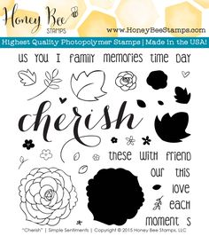 """Cherish"" Stamp Set 