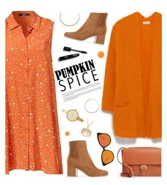 """""""Pumpkin Spice"""" by tamara-p ❤ liked on Polyvore featuring Jennifer Zeuner, American Vintage, A.P.C., Forever 21, Michael Kors, Zelens and pumpkinspice"""