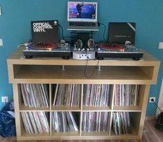 Minimalistic fast buildup DJ Console - IKEA Hackers - IKEA Hackers