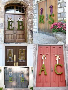 DIY Moss Letters- not crazy abt the moss letters but def the idea is a MUST