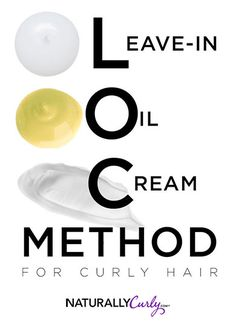 LOC-method for curly hair.Every curly girl should follow this method for moisture retention.