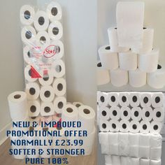 144 TOILET ROLLS 2 PLY 2PLY 200 SHEET TISSUE LUXURY QUILTED PAPER 4 CASES JUMBO in Business, Office & Industrial, Industrial Supply/MRO, Cleaning Equipment & Supplies | eBay