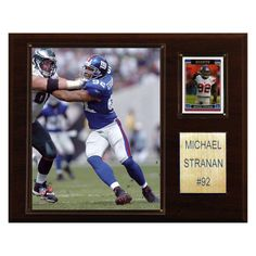 NFL 12 x 15 in. Michael Strahan New York Giants Player Plaque - 1215STRAHAN