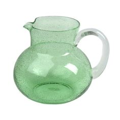 Artland Iris Pitcher in Light Green Handcrafted seeded glass pitcher. Product: PitcherConstruction Material: Mouth-blown glassColor: Light gree...