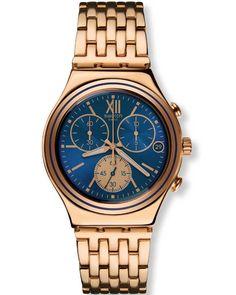 Το Blue Win ένα μοναδικό ρολόι χρονογράφος από τη Swatch από ανοξείδωτο  ατσάλι και μπλε καντράν 456a861d91c