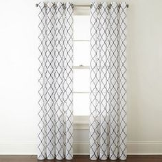 FREE SHIPPING AVAILABLE! Buy JCPenney Home Bayview Embroidery Sheer Grommet-Top Curtain Panel at JCPenney.com today and enjoy great savings. Available Online Only!