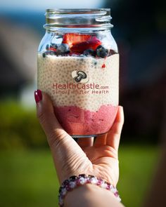 No Cook Chia Seed Pink Pudding Recipe