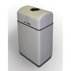 Allied Molded Products Palmetto 11-Gal 1 Stream Industrial Recycling Bin Color: Evening Shadows