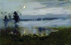 "Isaac Levitan, ""Fog over the water"". 1890"