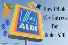 Shopping at Aldi is a great way to save money. Read how I made 49 Vegetarian freezer meals for under $30 with ingredients from Aldi!
