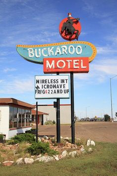 """Route 66 - Buckaroo Motel on old Rt. 66 in Tucumcari, New Mexico. """"The Fine Art Photography of Frank Romeo."""""""