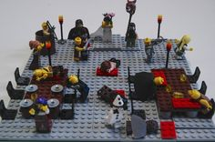 The Waterstones blog guys decided that in honour of The LEGO movie out this week they would recreate some of their favourite literary scenes using the iconic mini bricks.  Here we have The Red Wedding (as if it wasn't obvious) from A Song Of Ice & Fire by George R.R. Martin