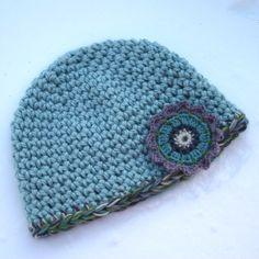 quick, easy double crochet hat