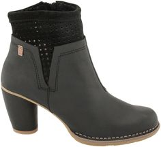 El Naturalista Colobri N495 ankle boot, Women, footwear for tireless travelers and nature lovers with Heat-Moldable Insole, PlanetShoes.com (Black)